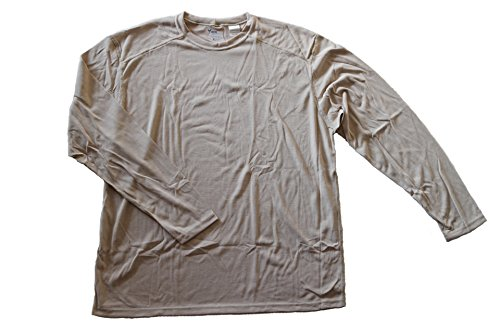 DRIFIRE Military Army Flame Resistant Moisture Wicking Silk Weight Long Sleeve Shirt, Desert Sand, XX-Large