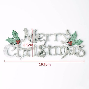 Decoration - Christmas Words Ornament Pendant Wall Door Xmas Tree Hanging Decoration - Snappy Spanking Rattling Joyous Yule Decorate Jovial Day Adorn Jolly Energetic Gay - 1PCs