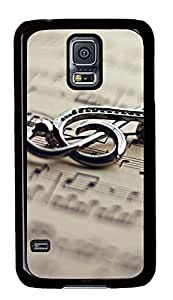 Samsung Galaxy S5 Metal Music Notation PC Custom Samsung Galaxy S5 Case Cover Black