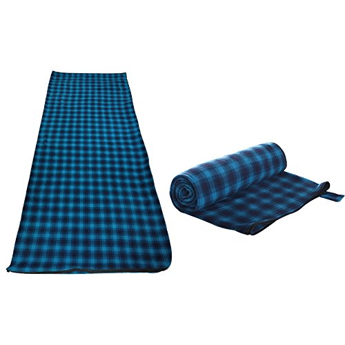Udyr 71″x32″ Large Microfiber Fleece Sleeping Bag Envelope Sleep Sack Zippered Warm Roomy Liner Blanket for Home Camping Hotel Airplane Train Travel with Carry Storage Bag