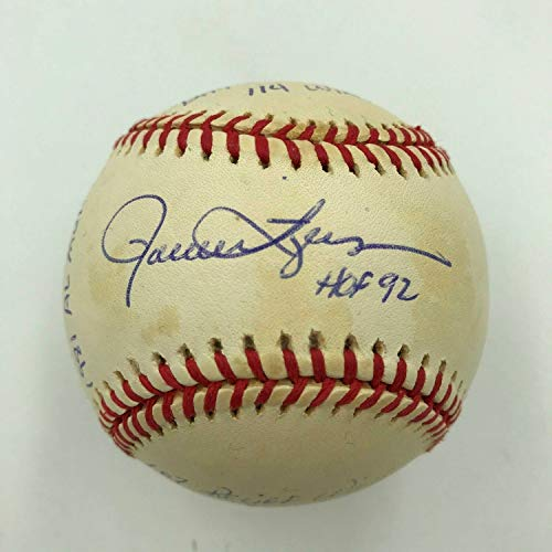 (Rollie Fingers Autographed Signed Heavily Inscribed Stat Baseball With Reggie Jackson Coa - Certified Signature)