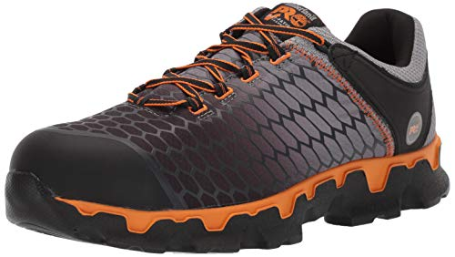 Timberland PRO Men's Powertrain Sport Alloy Toe EH Puncture Resistant Industrial Boot, Gray/Orange, 10.5 W US