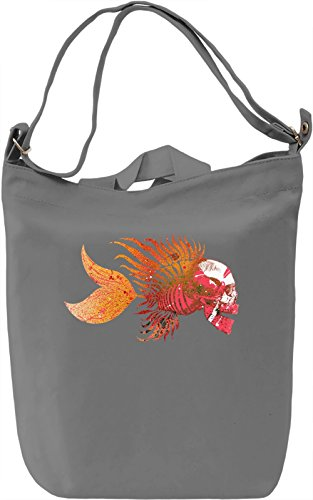 Skull Fish Borsa Giornaliera Canvas Canvas Day Bag| 100% Premium Cotton Canvas| DTG Printing|