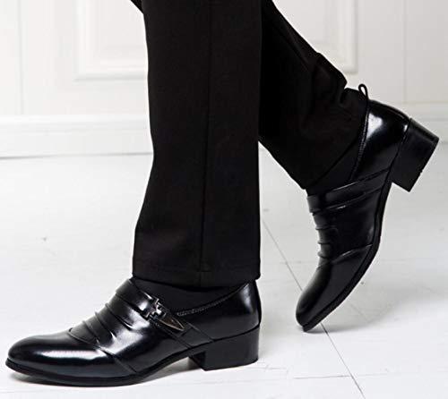 d'Affari Scarpe in Scarpe Pelle Uomo Traspiranti Scarpe Uomo con da Black Lacci Eleganti da x0n0rzBFY