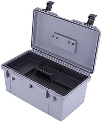 工具箱 ハードケース、プラスチック製のポータブルツールボックス、トレイの2層取り外し可能なトランスポートボックス(家の修理およびツールの保管用)