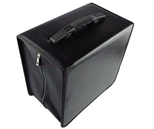 BININBOX Capacity CD DVD Wallet Heavy Duty Classic Disc Holder Storage Box Bag Case Protector Organizer PU (520)