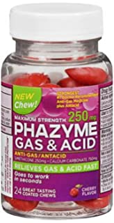 amazon com phazyme maximum strength gas acid relief 24 cherry