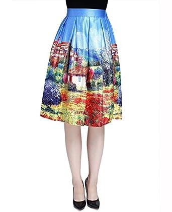 watercolor skirt