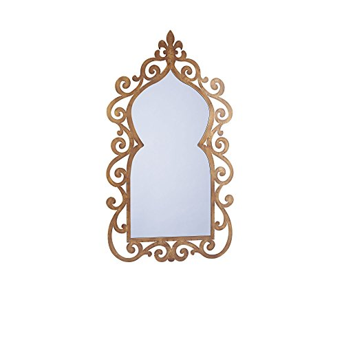 Household Essentials Decorative Scrolled Wall Mirror, Antiqu