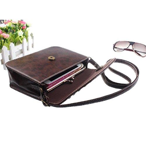 féminine cuir en tout Café Hobo Fourre Mode Messenger classique Fami Bag New wTUgxvXq