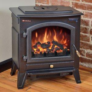 Amazon Com Comfort Smart Vermont Black Electric Fireplace