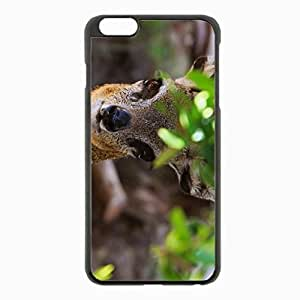 iPhone 6 Plus Black Hardshell Case 5.5inch - african antelope muzzle leaves Desin Images Protector Back Cover