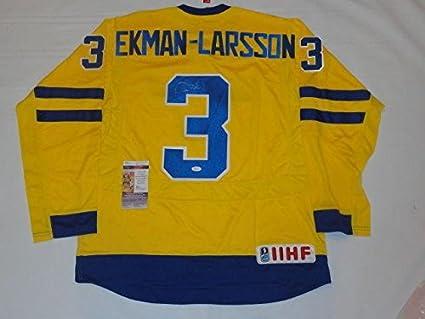 san francisco 5c5ef 2cc90 Oliver Ekman-Larsson Autographed Jersey - #3 Team Sweden Coa ...