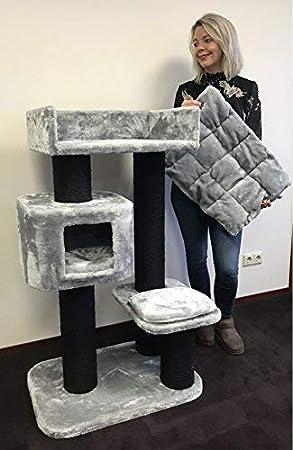 Rascador grande y estable XXL Devon Rex Blackline para gatos, gris claro, rascador para gatos pesados: Amazon.es: Productos para mascotas
