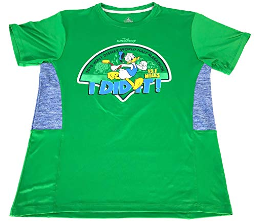 Disney Donald Half Marathon 2019 I Did It RunDisney Performance Shirt Mens Green (Large)