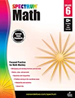 Spectrum - Math Workbook, Grade 6 - Multiplying and Dividing Fractions, Ratios, Percent, Probability, Statistics and more, 160 Pages, Ages 11-12