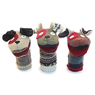 Cate & Levi - Hand Puppet - Premium Reclaimed Wool - Handmade in Canada - Machine Washable (Dog)