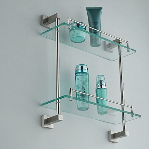 60%OFF stainless steel glass racks/Bathroom Wall bathroom shelf-B ...