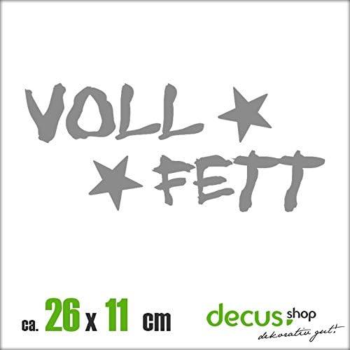 Voll Fett Xl 2518 Sticker Oem Jdm Style Aufkleber Grau Auto