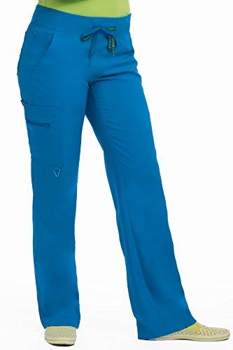 Med Couture Scrub Pants Women, Yoga Cargo Pocket Scrub Pant, XX-Small, Royal