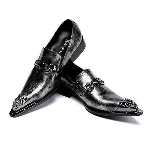 EU40 Toe XIE Scarpe Cowboy 45 Business Party uomo EU42 38To Mocassini pelle Club Formal verniciata Western Size Metal Pointed CUwdrxwqY