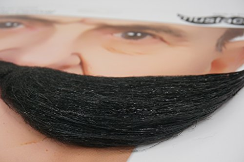 Mustaches Self Adhesive, Novelty, Fake Fisherman's, Black Color by Mustaches (Image #6)