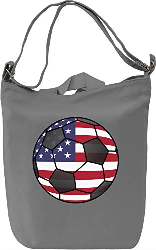USA Football Borsa Giornaliera Canvas Canvas Day Bag| 100% Premium Cotton Canvas| DTG Printing|