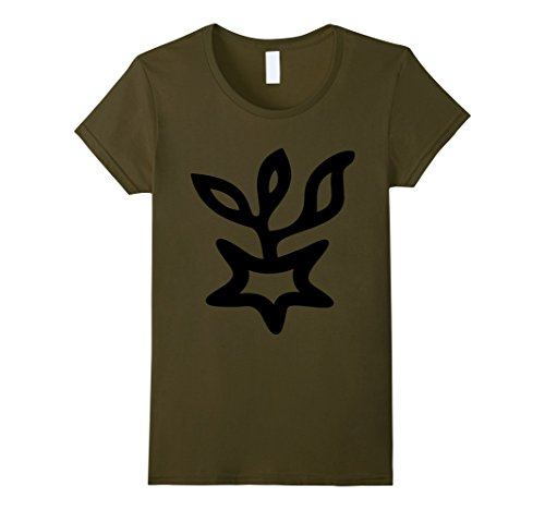 Women's 12 Victoria Symbol T-Shirt Asteroid Roman Goddess of Victory Small Olive (Victory Goddess)