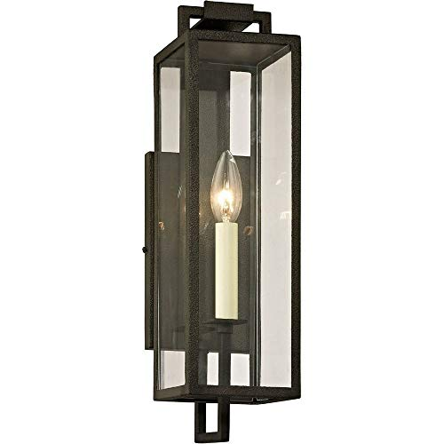 (Troy Lighting B6381 Beckham Outdoor Wall Sconce, Forged Iron Finish)