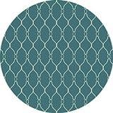 Surya Fallon Turquoise-Ivory 8' Transitional Area Rug