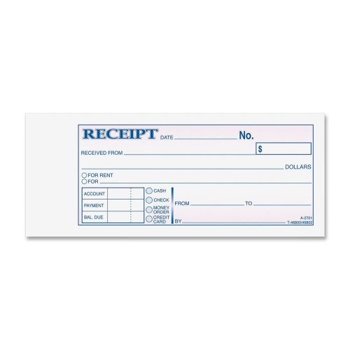 Wholesale CASE of 25 - Adams Carbonless Receipt Book-Money/Rent Receipt Book,Crbnlss,3-Part,2-3/4''x6-3/4'',50/BK by ABF