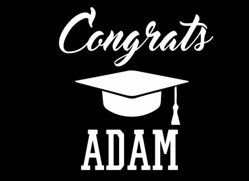 Congrats Adam: Graduation Cap Guest Signing Book For Party, Personalized Gift. Graduate Advice or Autograph Book Lined. (Tassel Zone)