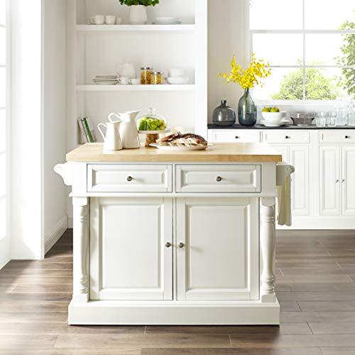 Crosley Furniture Kitchen Island with Butcher Block Top - White by Crosley Furniture (Image #9)