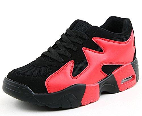 CSDM Coppie Uomo Cuscino d'aria Scarpe da jogging Uomini E Donne Scarpe Sportive Casual Scarpe Sportive all'aria aperta , red , 42