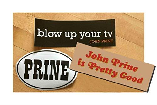 Official John Prine 3 Pack Bumper Sticker Set