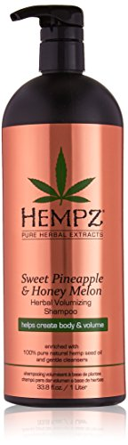 - Hempz Hempz sweet pineapple and honey melon herbal volumizing shampoo, 33.8 fluid ounce, 33.8 Ounce