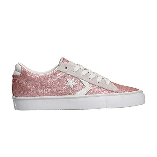 Converse Scarpe Rosa Lacci 560968C Pink Glitter Pelle Sneakers Bianco Donna TqBwTrfn