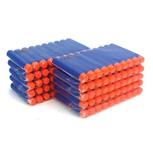 100 Pcs 7.2cm Blue Foam Darts for Nerf N-strike Elite Series Blasters Toy...