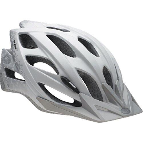 Bell Slant Helmet - Matte White/Silver Braille (Helmet Bell Skull Bicycle Sports)