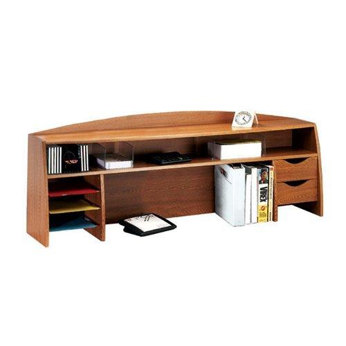 Buddy Products 58 Inch Wood Space Saver, 12.5 x 21.25 x 58 Inches, Medium Oak (1134-11) - Buddy Wood 4 Shelf