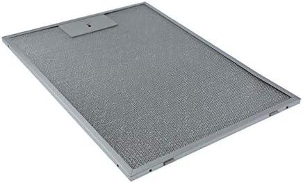 Filtro de grasa de metal, 370 x 265 mm, apto para campana extractora Bosch Siemens 00703451, 703451: Amazon.es: Grandes electrodomésticos