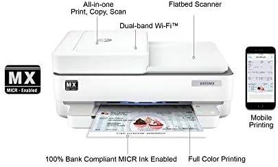 VERSACHECK HP OFFICEJET 6455 MX ALL-IN-ONE MICR CHECK PRINTER BUNDLE, WHITE