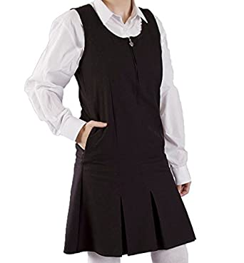 cb1ad7b3c Mischief (Ages 3-18 Girls School Pleated Pinafore with Side Pocket Tunic  School Uniform 4 Colours (Teflon Stain Resistant): Amazon.co.uk: Clothing