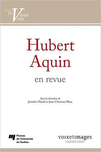 Téléchargement Hubert Aquin en revue pdf
