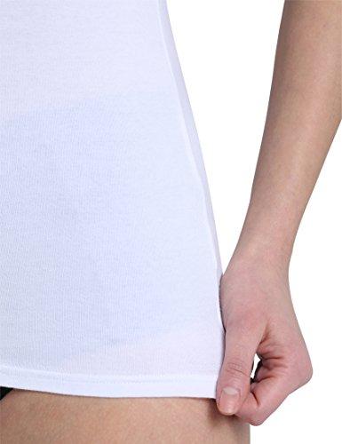 Berydale Bd311, Camiseta sin Mangas para Mujer (pack x 2) Blanco (Weiß)