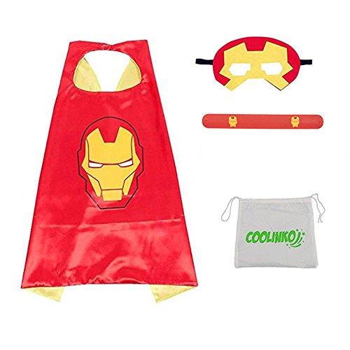 Superhero Cape, Mask and Slap Bracelet - Costume