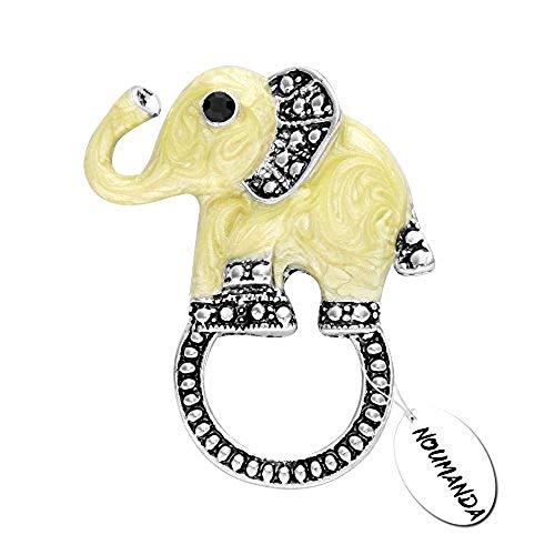 NOUMANDA Lovely Small Elephant Magnetic Eyeglass Holder,Magnetic Pin Holder,Magnetic Brooch