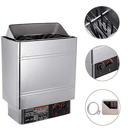 VEVOR Sauna Heater 9KW Dry Steam Bath Sauna Heater Stove 220V-240V with External Controller Electric Sauna Stove for Max.459 Cubic Feet Home Hotel Sauna Room Spa Shower Bath Sauna ()