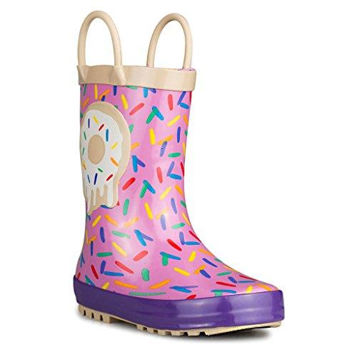 Chillipop Kid's Rainboots - Fun Prints, Easy On Handles: Spr