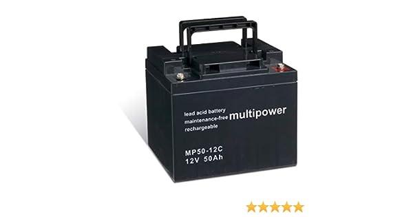 Powery Batería Plomo-ácido (multipower) para Silla de Ruedas Eléctrica Quickie Salza cíclica: Amazon.es: Electrónica